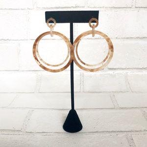NWT faux tortoise hoop earrings